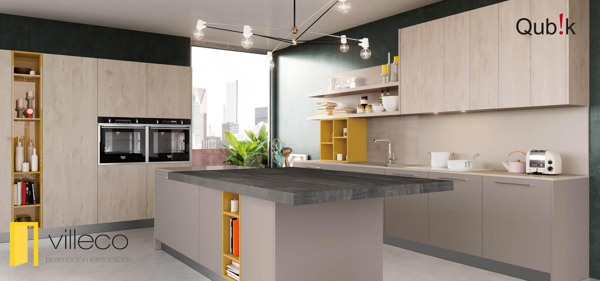 Cocinas contemporáneas – Villeco Promociones Inmobiliarias